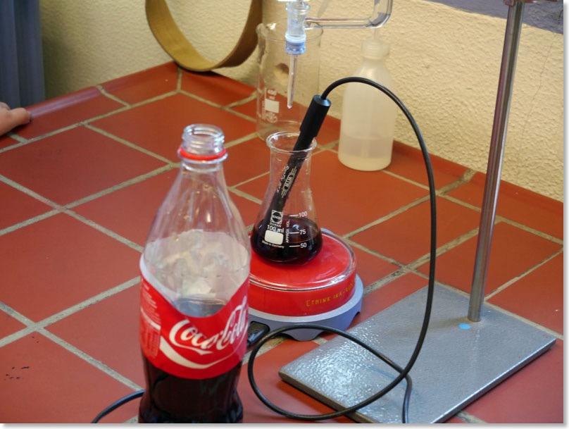 titration von cola s uren und basen chemie. Black Bedroom Furniture Sets. Home Design Ideas